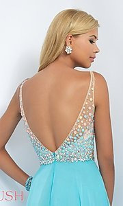 Image of Beaded Sweetheart Long Blush Prom Dress Style: BL-11087 Detail Image 1