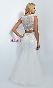 Image of long two-piece dress Style: BL-11003 Back Image