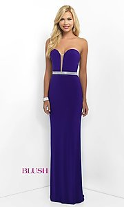 Strapless Floor Length Sweetheart Prom Dress