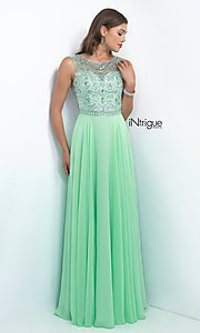 Image of long sleeveless beaded top dress Style: BL-IN-152 Front Image