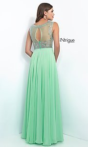 Image of long sleeveless beaded top dress Style: BL-IN-152 Back Image