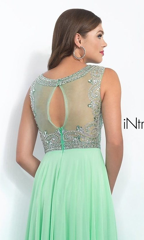 Image of long sleeveless beaded top dress Style: BL-IN-152 Detail Image 1