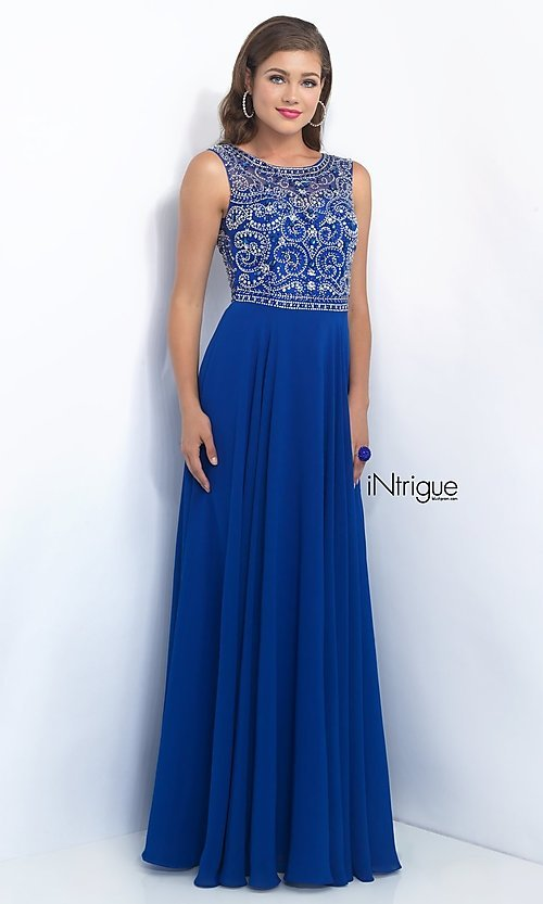 Image of long sleeveless beaded top dress Style: BL-IN-152 Detail Image 2