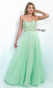 Floor Length Strapless Sweetheart Prom Dress from Intrigue by Blush