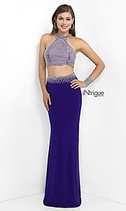 Purple Two Piece Prom Dress from Intrigue by Blush