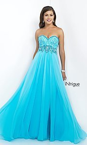 Intrigue by Blush Strapless Sweetheart Prom Dress