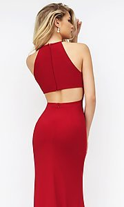 Long sleeveless open back side slit dress  Style: SH-32340 Detail Image 2