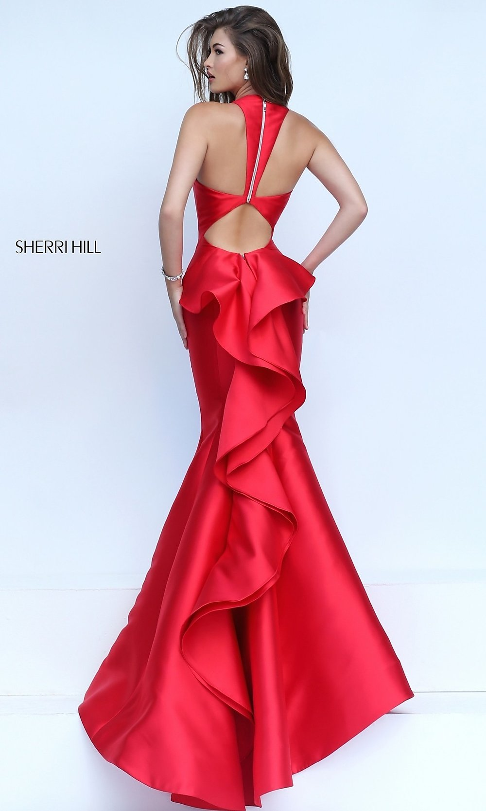 V-Neck Mermaid Prom Dress- PromGirl