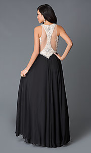 Image of illusion sweetheart long dress by JVN by Jovani. Style: JO-JVN-JVN33758 Back Image