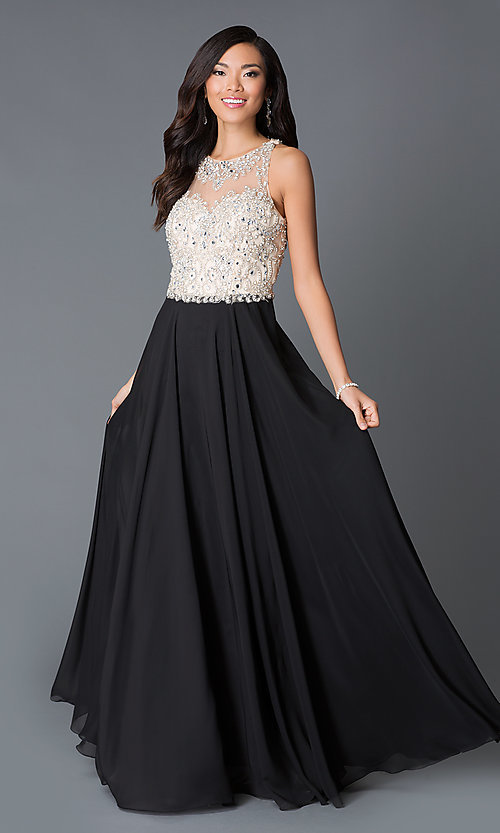 Image of illusion sweetheart long dress by JVN by Jovani. Style: JO-JVN-JVN33758 Front Image