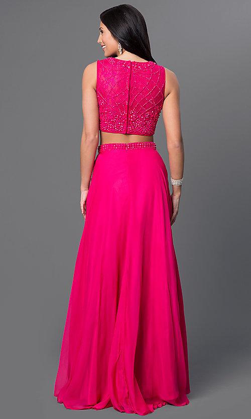 Celebrity Prom Dresses Sexy Evening Gowns Promgirl Two Piece