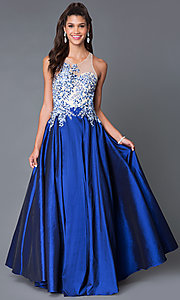 Long Illusion Sweetheart Open Back Prom Dress MF-E1917