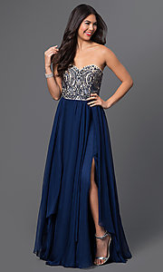 Long Strapless Sweetheart Prom Dress MF-E1870