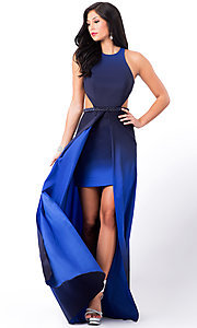 Sleeveless Ombre High Low Prom Dress by La Femme