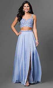 Two-Piece Long Alyce Prom Dress with Lace Top