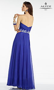 Image of long chiffon sweetheart Alyce prom dress Style: AL-35808 Back Image