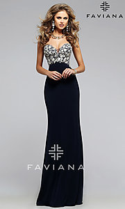 Form Fitting Strapless Sweetheart Faviana Prom Dress