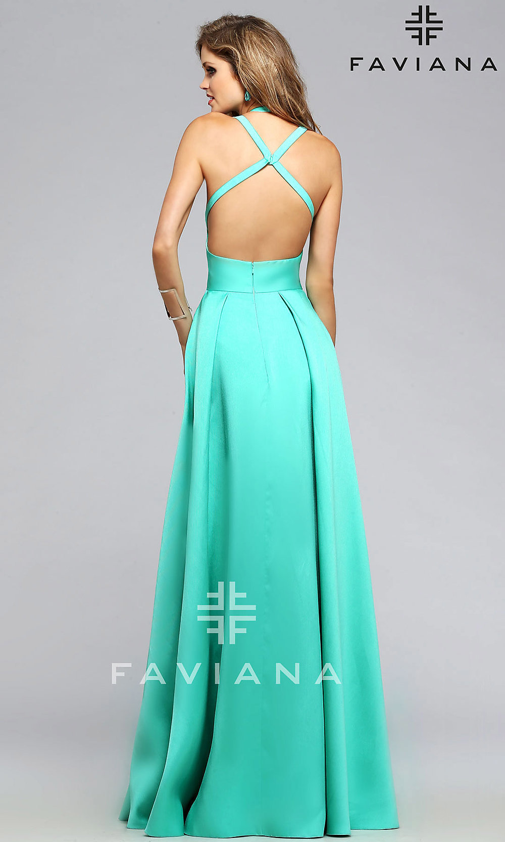 Faviana High-Low Open-Back Prom Dress - PromGirl