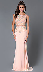 Long Mock Two Piece Temptation Prom Dress 5030