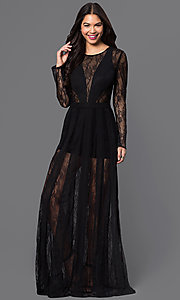 Long Lace Long Sleeve Prom Dress TE-5038 by Temptation