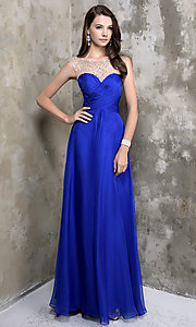 Floor Length Royal Blue Dress by Nina Canacci