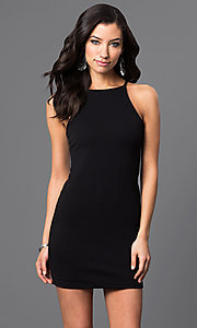 Image of short racerback dress. Style: CH-2634 Front Image