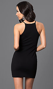 Image of short racerback dress. Style: CH-2634 Back Image