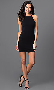 Image of short racerback dress. Style: CH-2634 Detail Image 1