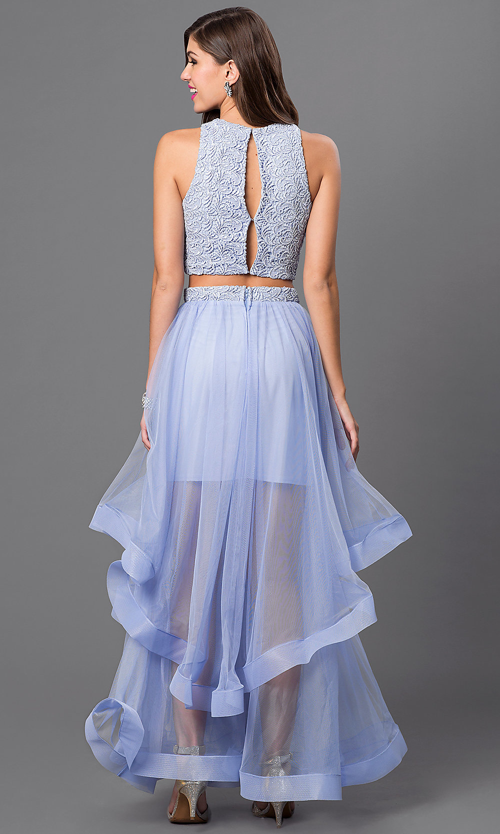 4de6344f61c2 Hover to zoom · Image of long two-piece dress ...