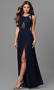 Image of Open Back Long Prom Dress Style: LF-AV-0144 Detail Image 2