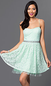 Emerald Sundae Short Lace Party Dress
