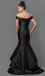 Image of Jovani off-the-shoulder mermaid dress Style: JO-31100 Back Image