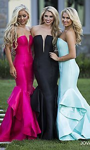 Long Strapless Jovani Mermaid Dress