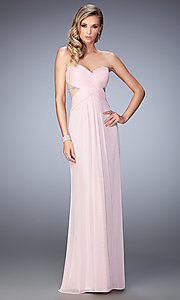 Long La Femme Strapless Sweetheart Prom Dress