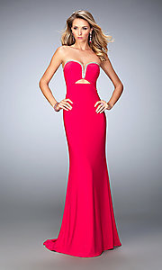 Long Strapless Sweetheart La Femme Dress