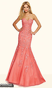 Strapless Lace Mermaid Style Mori Lee Prom Dress ML-98002