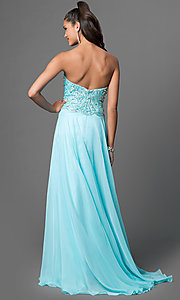 Image of long sweetheart jeweled chiffon prom dress Style: CD-1446 Back Image
