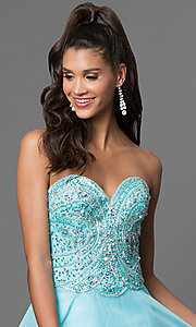 Image of long sweetheart jeweled chiffon prom dress Style: CD-1446 Detail Image 1