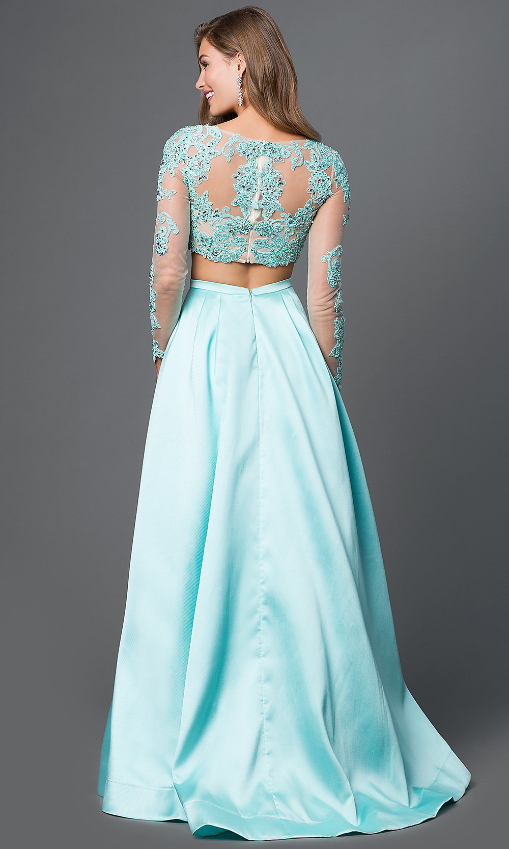 Celebrity Prom Dresses, Sexy Evening Gowns - PromGirl: Long Sleeve ...