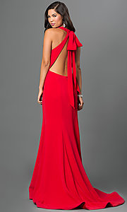 Image of open-back floor-length Terani prom dress. Style: TI-P0514 Back Image