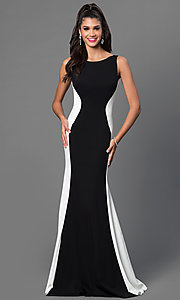 JVN by Jovani Open-Back Sleeveless Long Dress