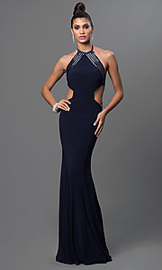 Terani Floor Length Open Back Dress