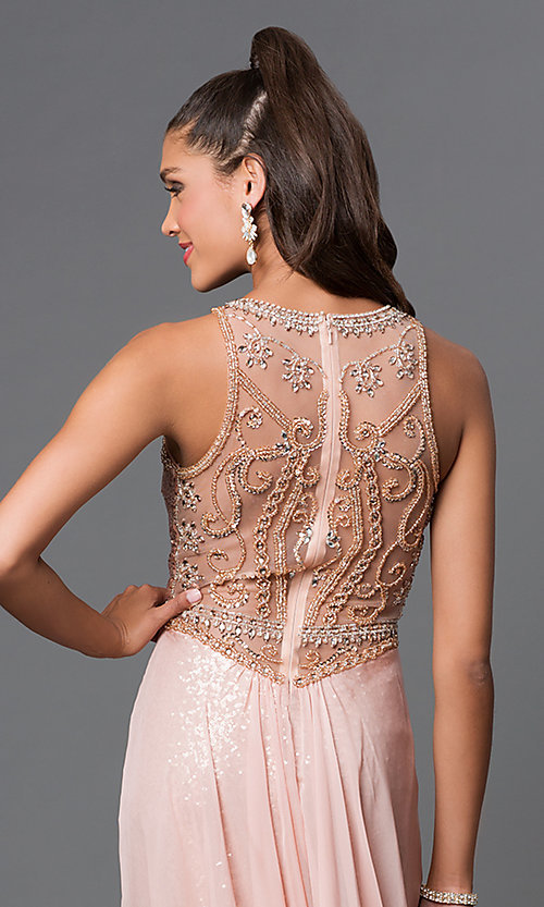 Image of long sequin designer prom dress by Elizabeth K. Style: FB-GL1400 Detail Image 1