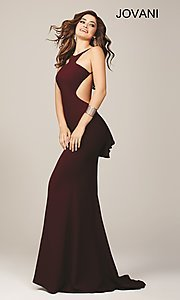 Image of long open back dress Style: JO-22696 Back Image