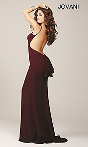 Open Back Long Jovani Prom Dress