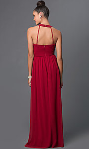 Image of sleeveless scoop-neck dress with adjustable straps Style: LP-23071 Back Image