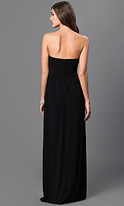 Image of City Triangles black strapless empire-waist dress. Style: CT-8415DE5B Back Image