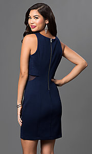 Image of short navy-blue popover dress by Emerald Sundae Style: EM-DPD-2043-430 Back Image