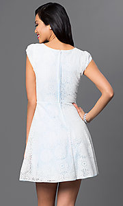 Image of short lace dress cap-sleeve Emerald Sundae dress Style: EM-DHC-2505-109 Back Image