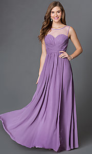 Image long of sleeveless dress with corset back Style: DQ-9202 Detail Image 3